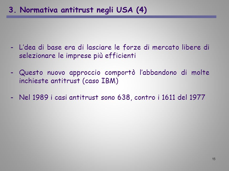 3. Normativa antitrust negli USA (4)