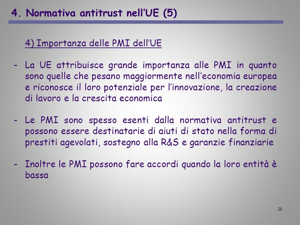 4. Normativa antitrust nell'UE (5)