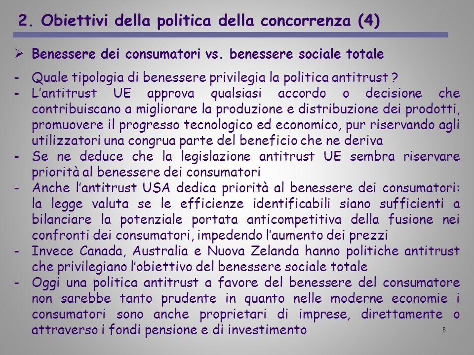 2. Obiettivi della politica della concorrenza (4)