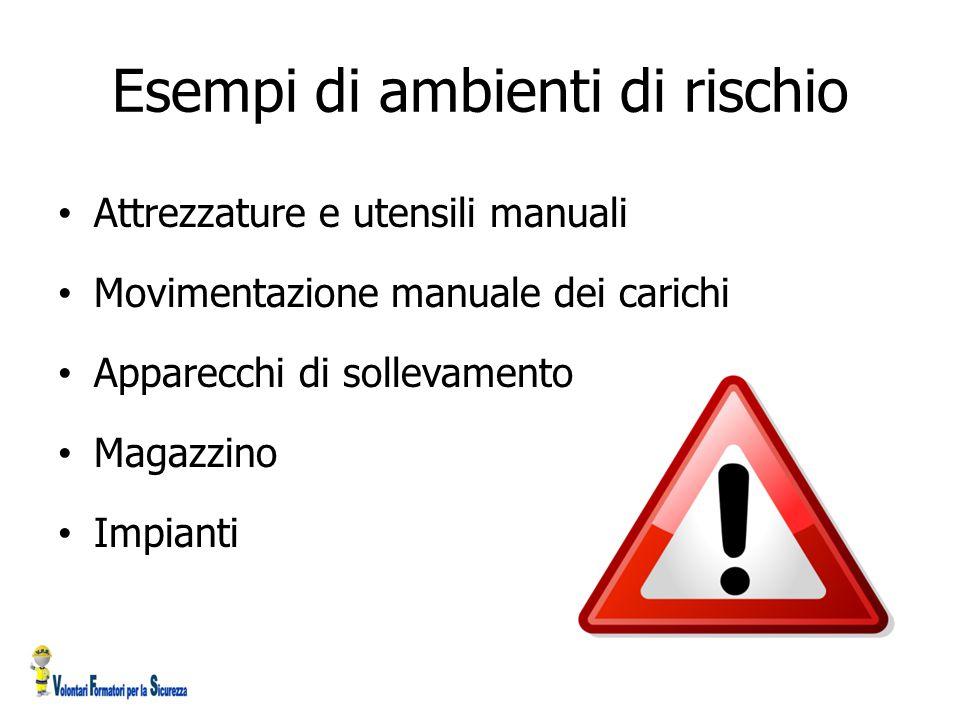 Esempi di ambienti di rischio