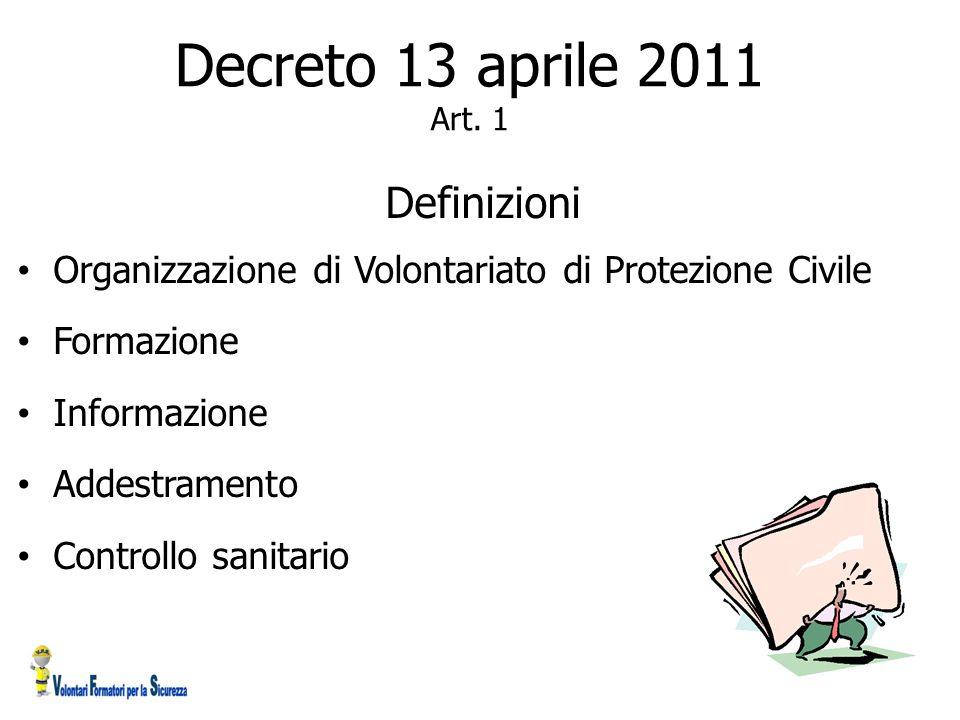Decreto 13 aprile 2011 Art. 1 Definizioni