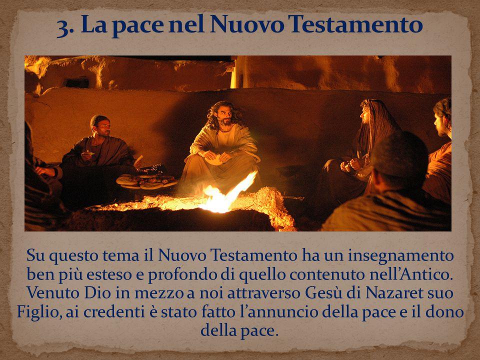 3. La pace nel Nuovo Testamento