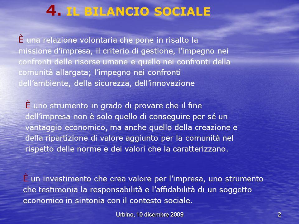 4. IL BILANCIO SOCIALE