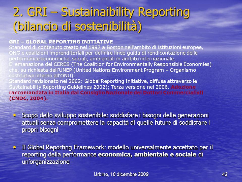 2. GRI – Sustainaibility Reporting (bilancio di sostenibilità)