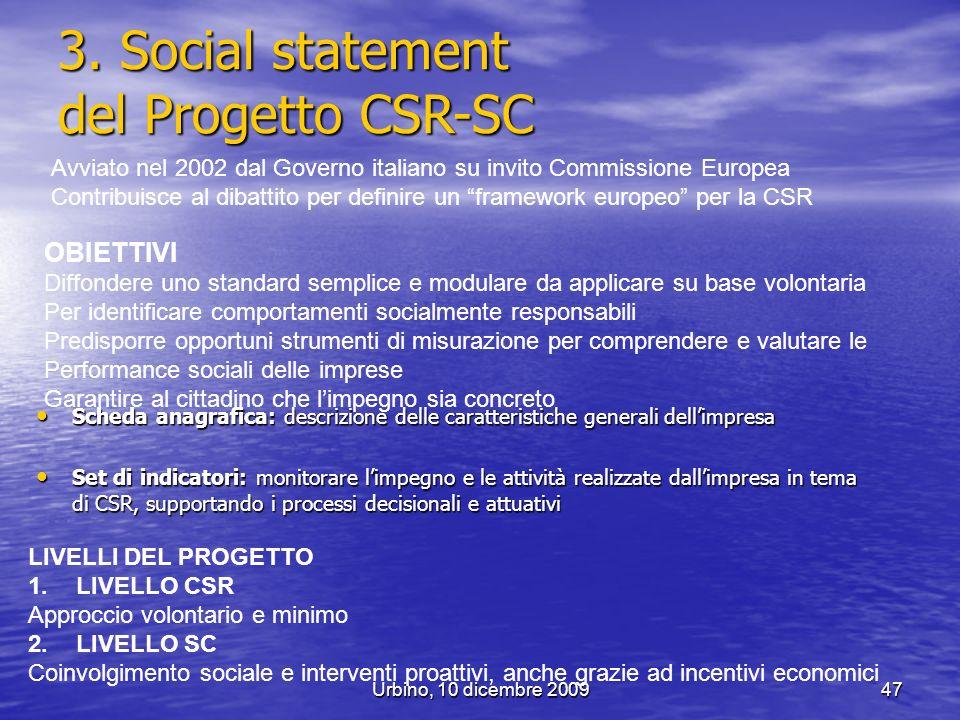 3. Social statement del Progetto CSR-SC