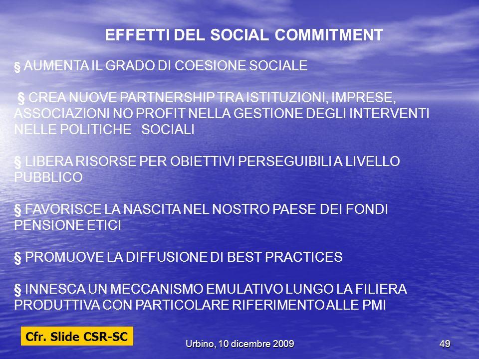 EFFETTI DEL SOCIAL COMMITMENT
