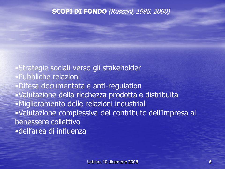 Strategie sociali verso gli stakeholder Pubbliche relazioni