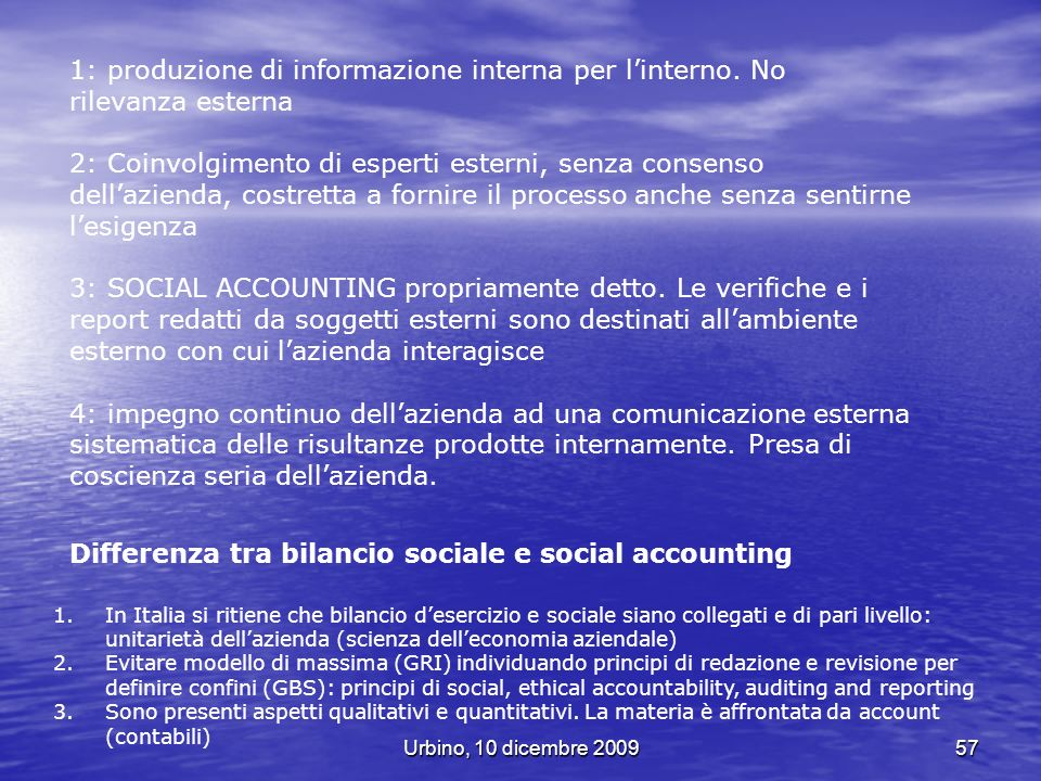 Differenza tra bilancio sociale e social accounting