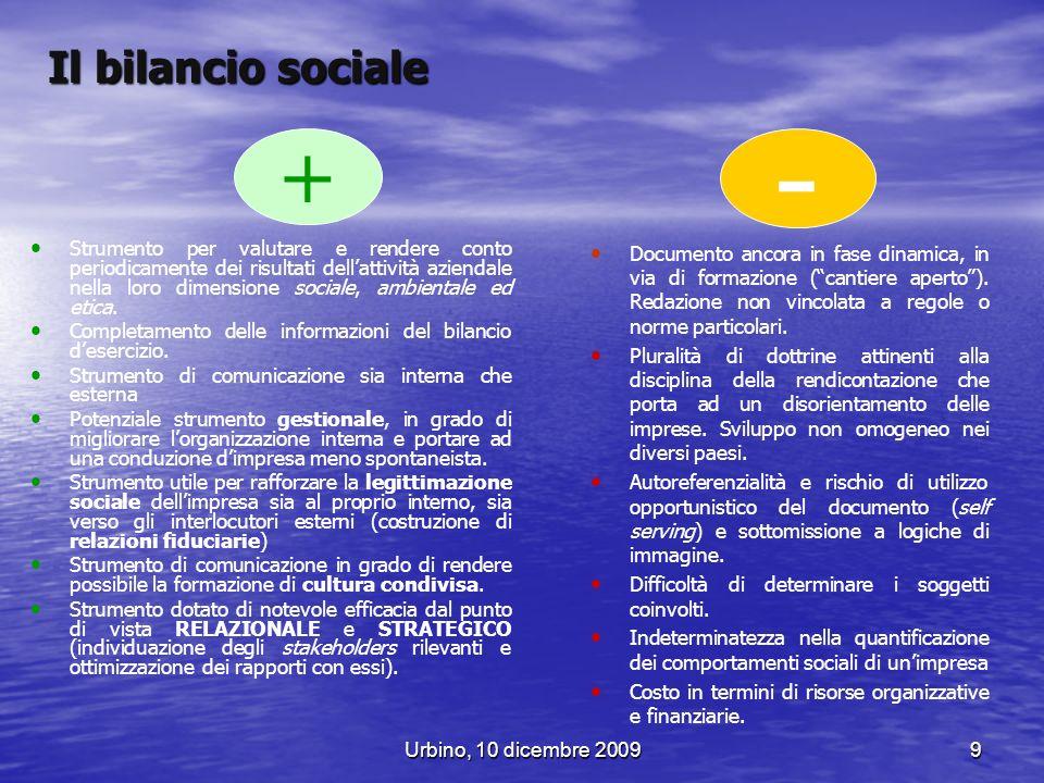 Il bilancio sociale + -