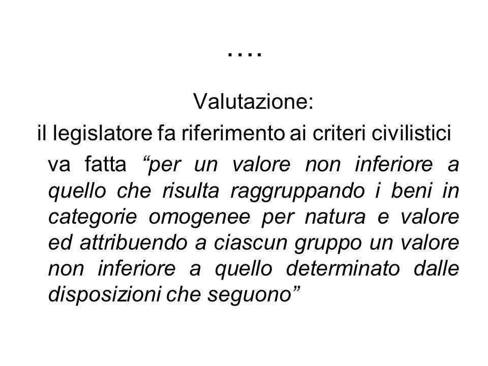 il legislatore fa riferimento ai criteri civilistici