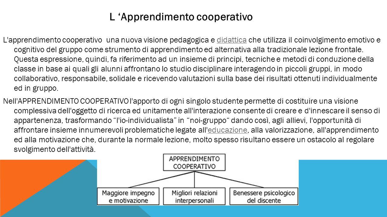 L 'Apprendimento cooperativo