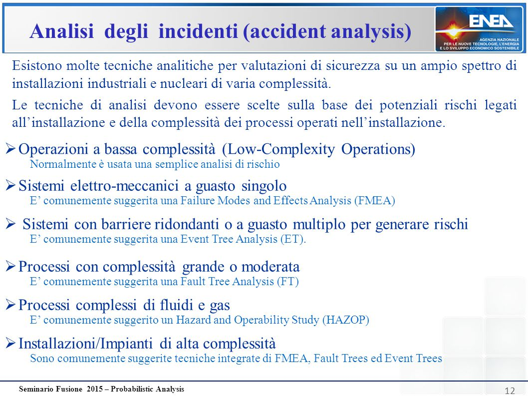 Analisi degli incidenti (accident analysis)