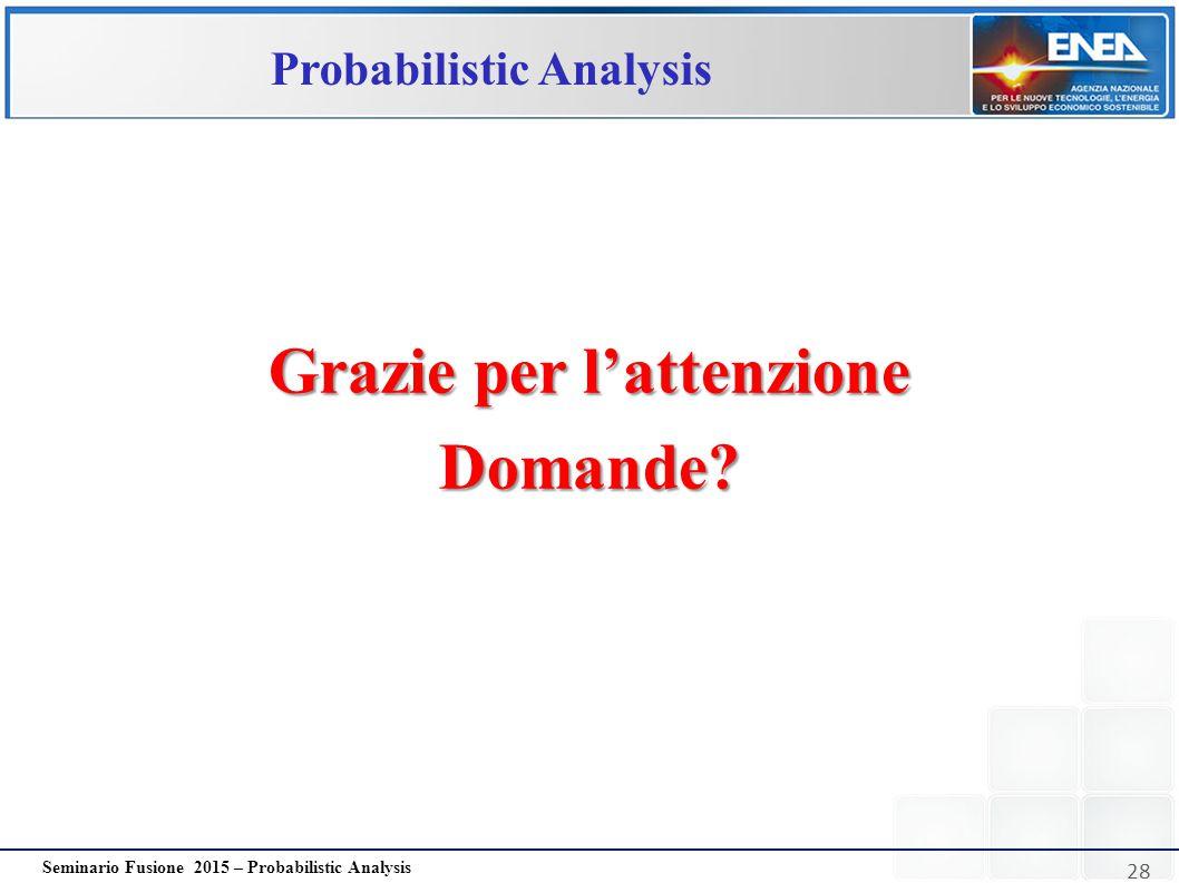 Probabilistic Analysis Grazie per l'attenzione