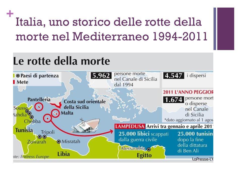 Italia, uno storico delle rotte della morte nel Mediterraneo 1994-2011