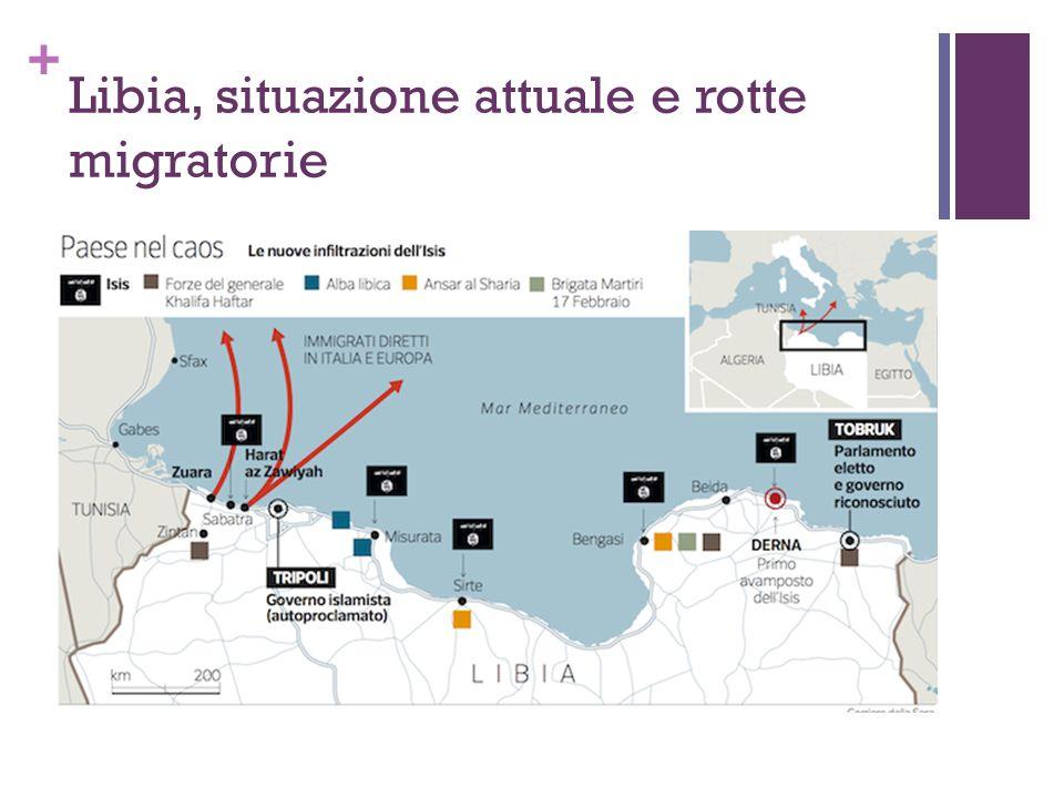 Libia, situazione attuale e rotte migratorie