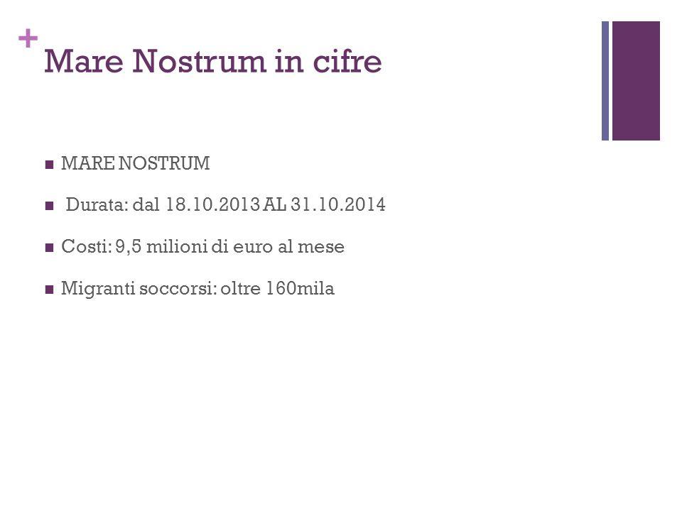 Mare Nostrum in cifre MARE NOSTRUM