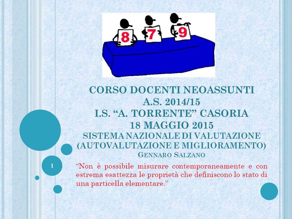 CORSO DOCENTI NEOASSUNTI A. S. 2014/15 I. S. A