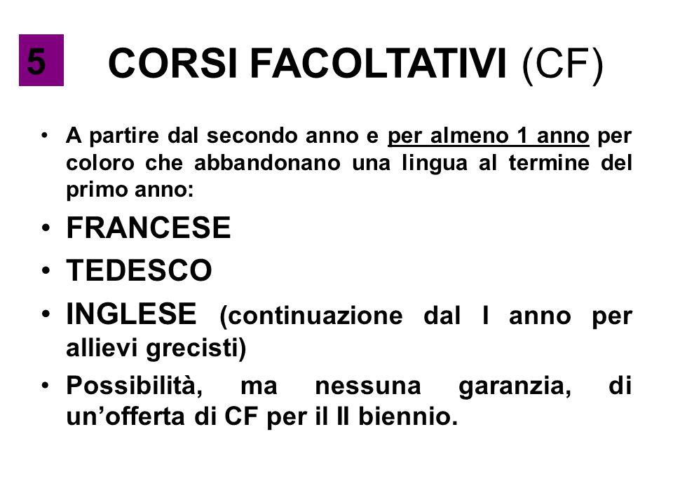 CORSI FACOLTATIVI (CF)