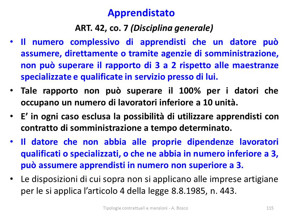 ART. 42, co. 7 (Disciplina generale)