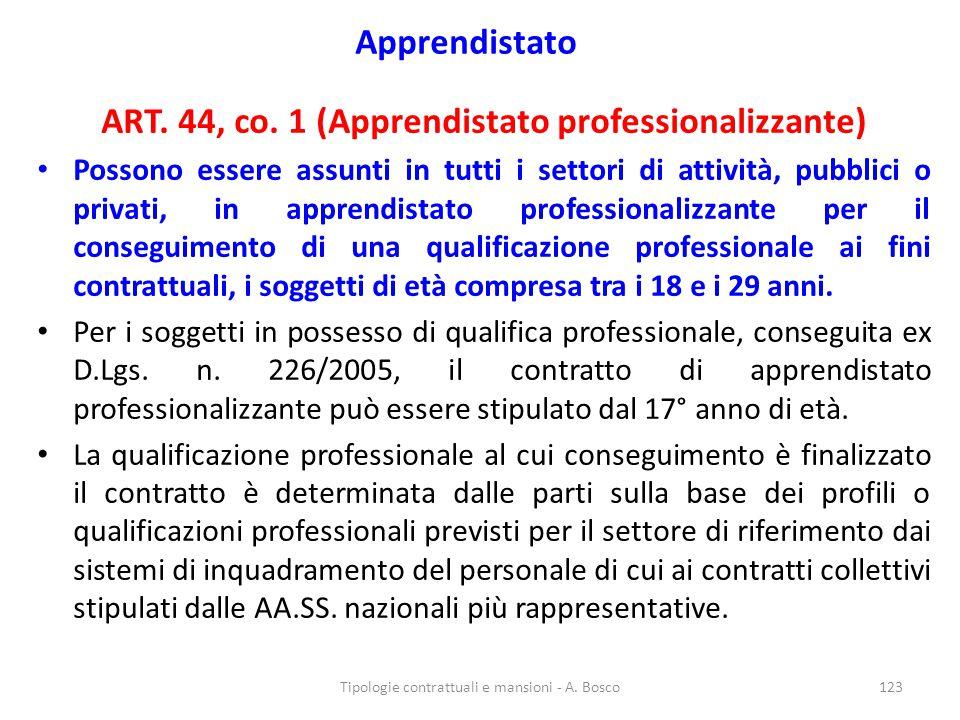 ART. 44, co. 1 (Apprendistato professionalizzante)