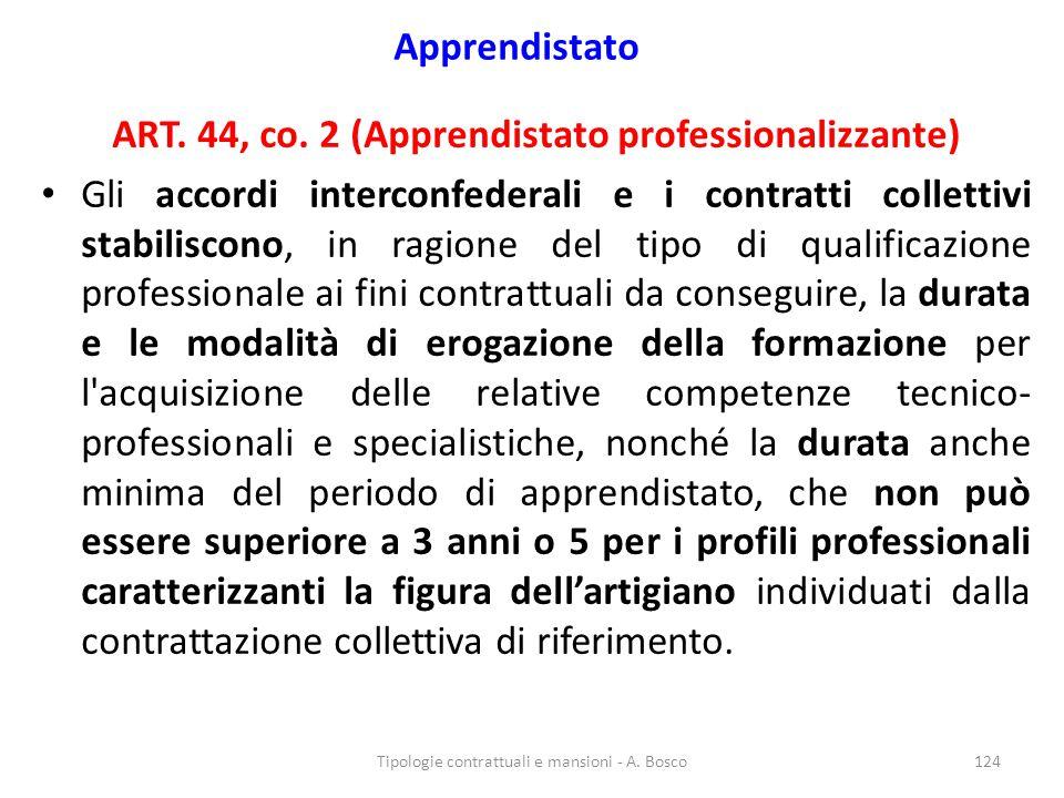 ART. 44, co. 2 (Apprendistato professionalizzante)