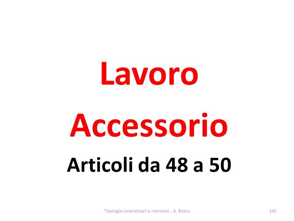 Lavoro Accessorio Articoli da 48 a 50