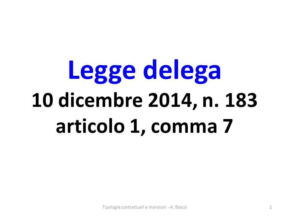 Legge delega 10 dicembre 2014, n. 183 articolo 1, comma 7