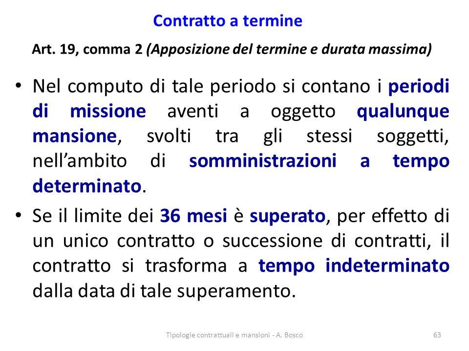 Art. 19, comma 2 (Apposizione del termine e durata massima)
