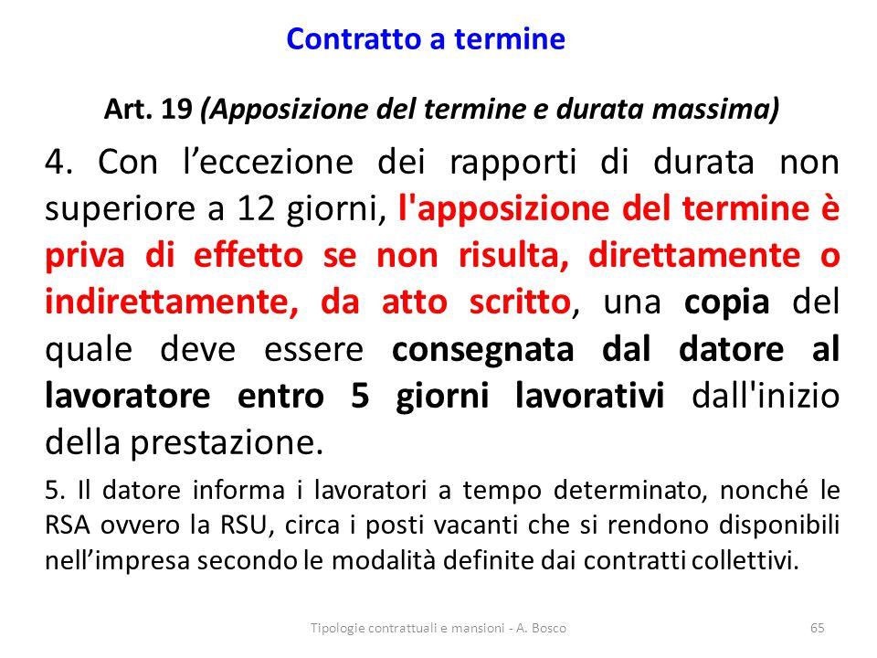 Art. 19 (Apposizione del termine e durata massima)