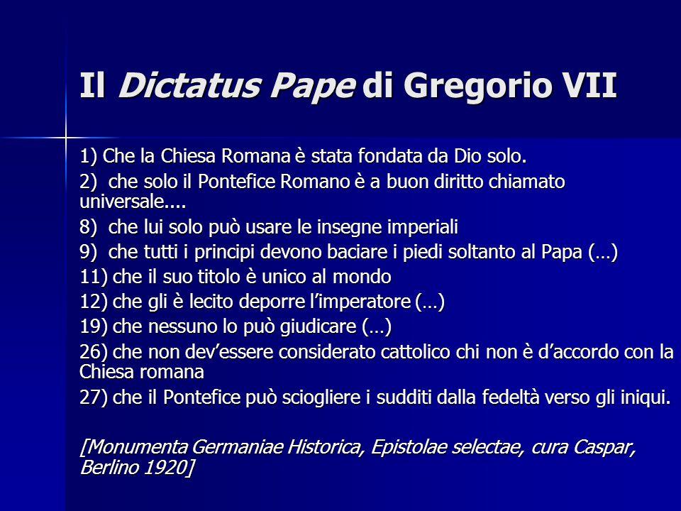 Il Dictatus Pape di Gregorio VII
