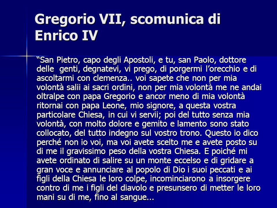 Gregorio VII, scomunica di Enrico IV