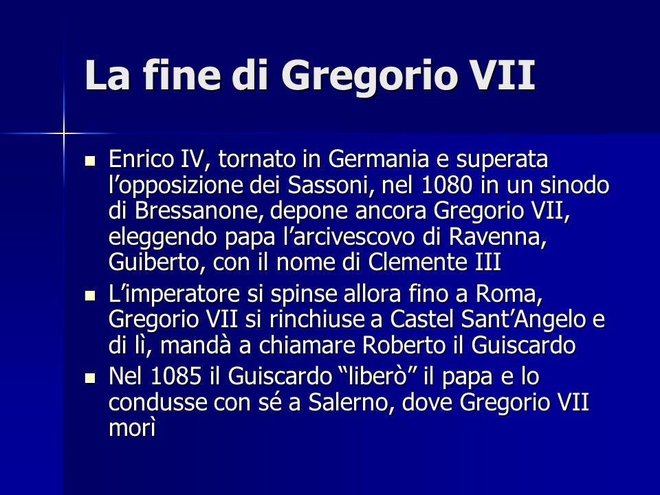 La fine di Gregorio VII