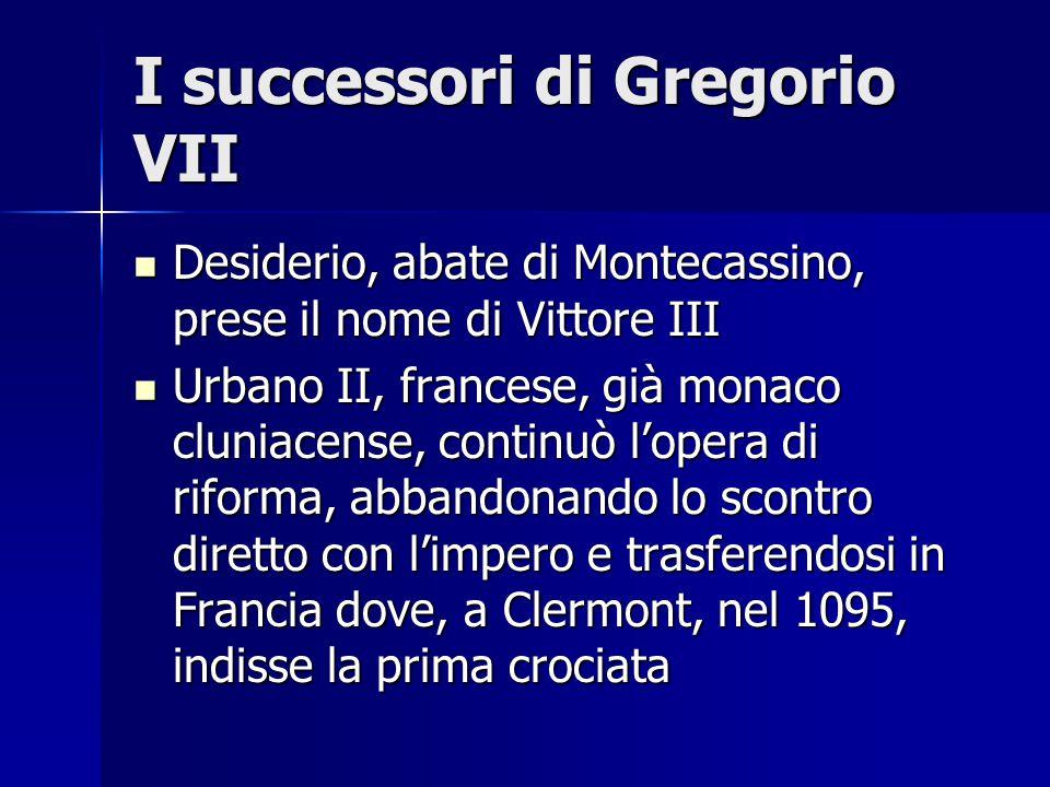 I successori di Gregorio VII