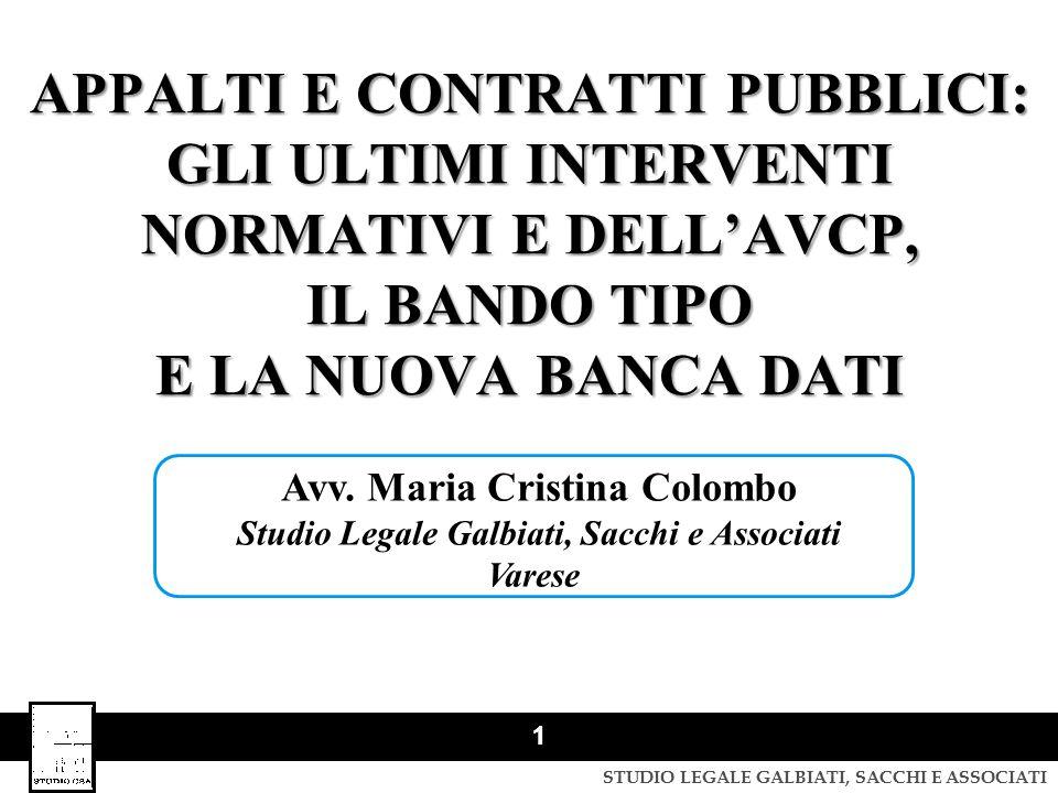 Avv. Maria Cristina Colombo Studio Legale Galbiati, Sacchi e Associati