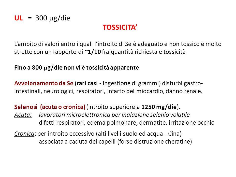 UL = 300 g/die TOSSICITA'