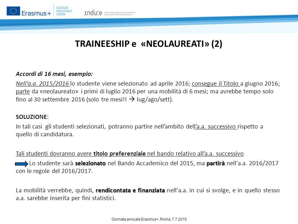 TRAINEESHIP e «NEOLAUREATI» (2)