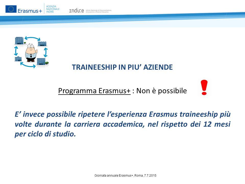 Giornata annuale Erasmus+, Roma, 7.7.2015