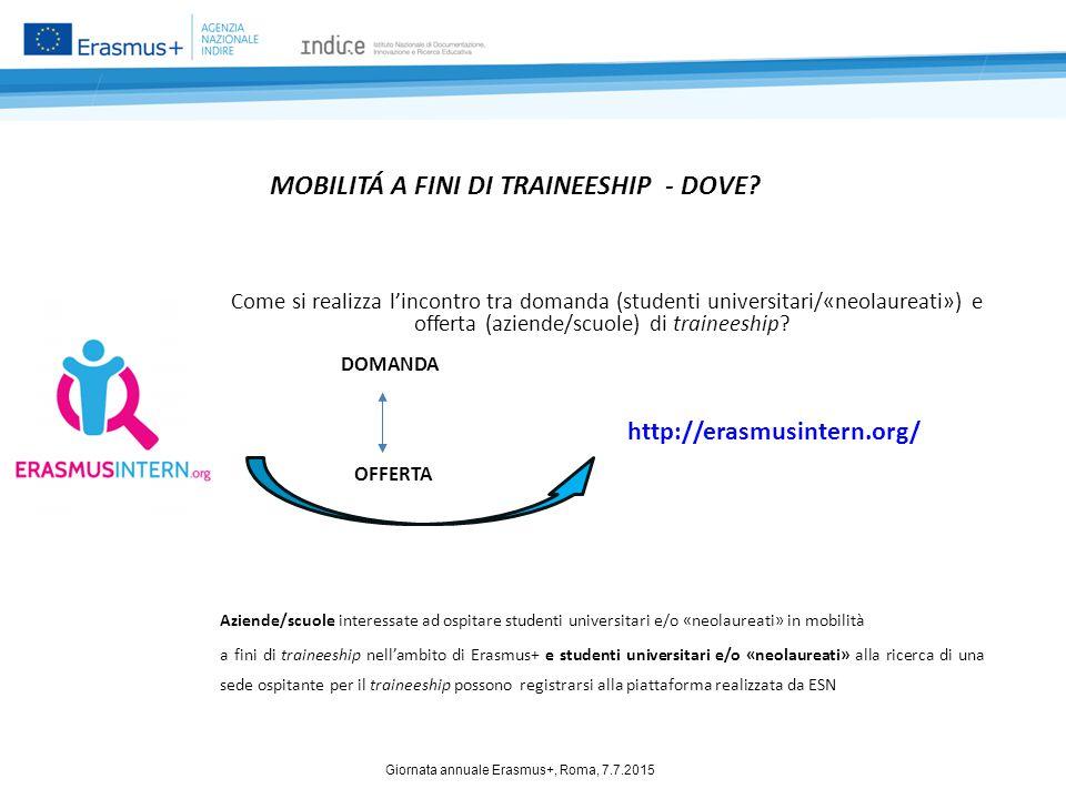 MOBILITÁ A FINI DI TRAINEESHIP - DOVE