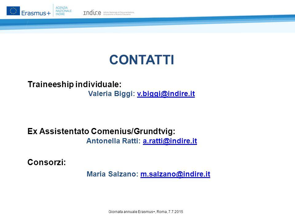 Valeria Biggi: v.biggi@indire.it Antonella Ratti: a.ratti@indire.it