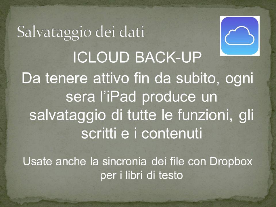 Usate anche la sincronia dei file con Dropbox per i libri di testo