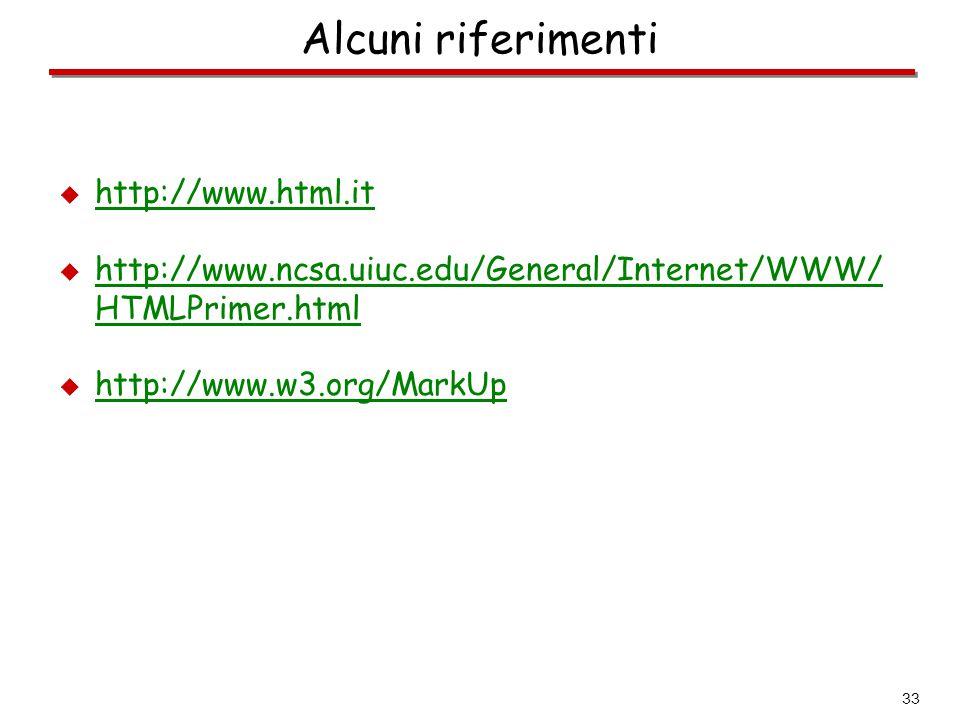 Alcuni riferimenti http://www.html.it