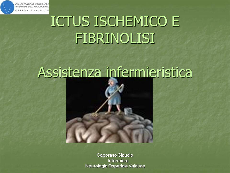 ICTUS ISCHEMICO E FIBRINOLISI Assistenza infermieristica