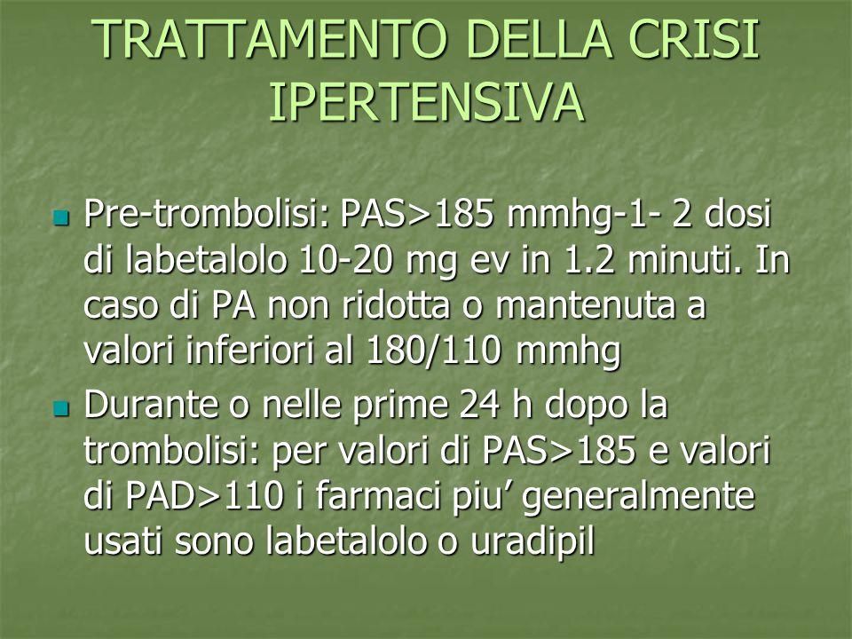 TRATTAMENTO DELLA CRISI IPERTENSIVA