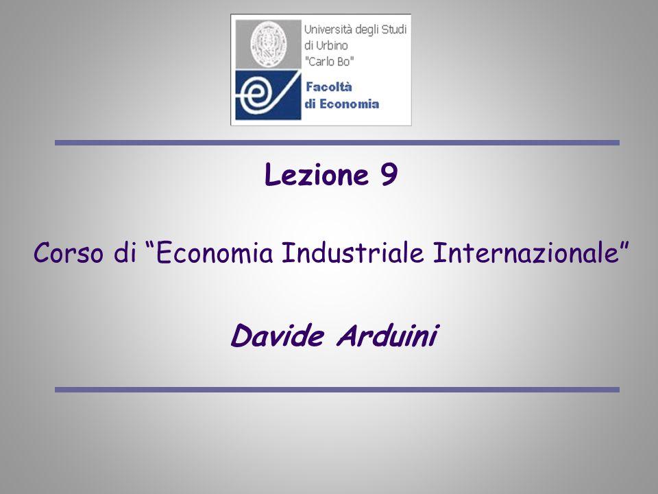 Corso di Economia Industriale Internazionale