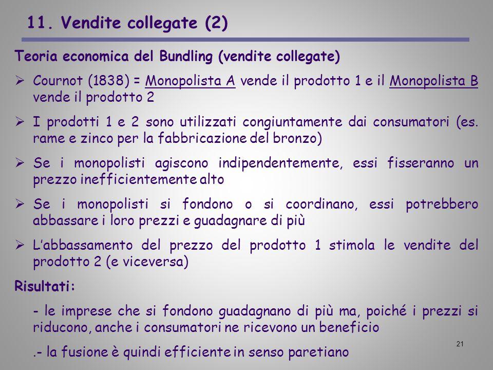 11. Vendite collegate (2) Teoria economica del Bundling (vendite collegate)