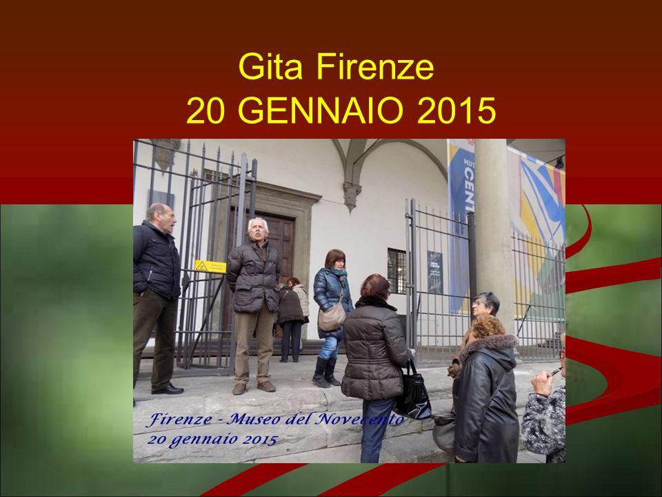 Gita Firenze 20 GENNAIO 2015
