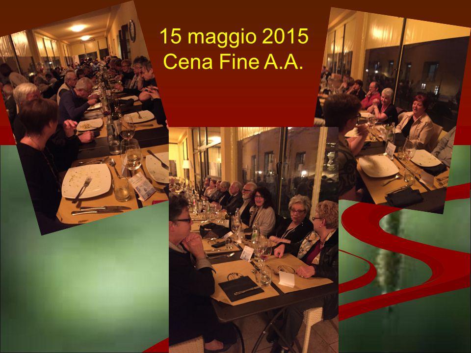 15 maggio 2015 Cena Fine A.A.