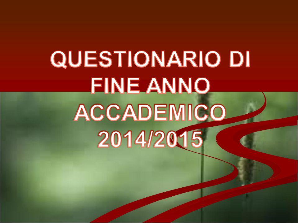 QUESTIONARIO DI FINE ANNO ACCADEMICO