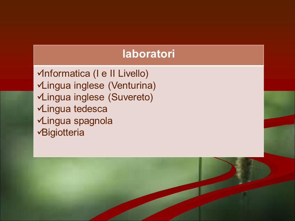 laboratori Informatica (I e II Livello) Lingua inglese (Venturina)