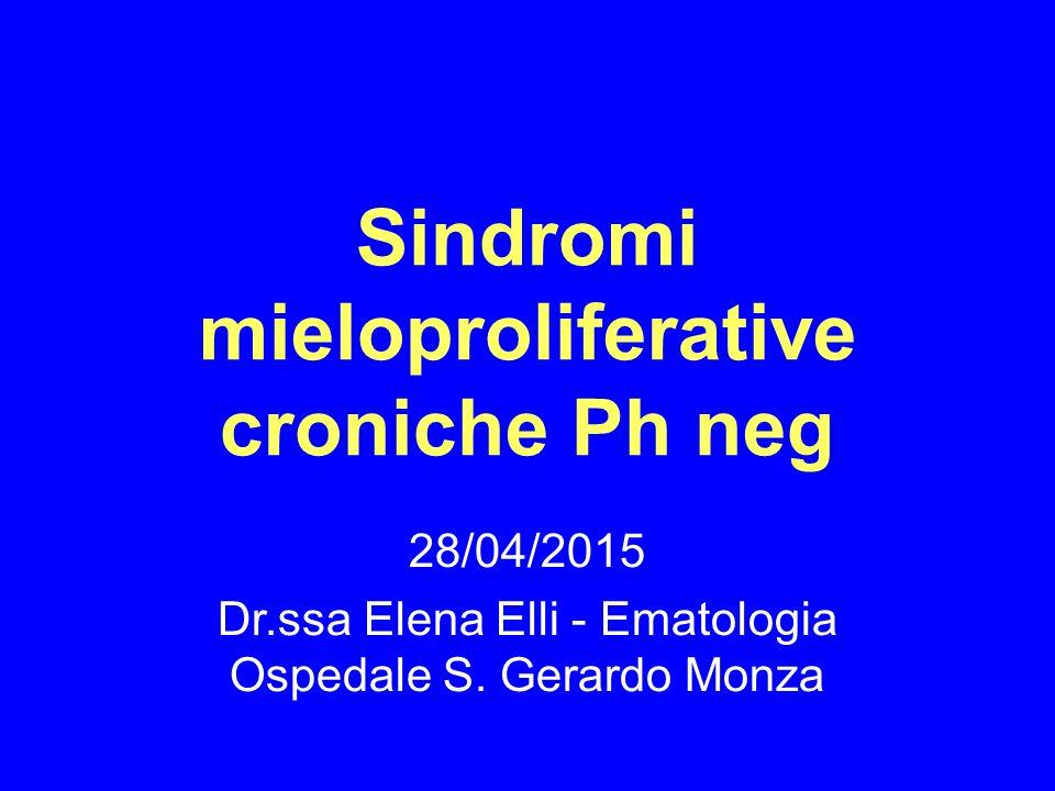 Sindromi mieloproliferative croniche Ph neg